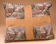 Classic Western Tapestry Pillow 16x18 -Elk  (p50)