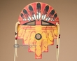 Clay Southwest American Indian Mask -Acoma  (m2)