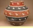 "Coiled Navajo Style Olla Basket 21""  (a55)"