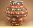 """Coiled Navajo Style Olla Basket 23""""  (a55)"""