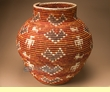 """Coiled Navajo Style Olla Basket 22""""  (a55)"""