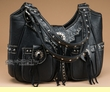 Western Style Concealed Carry Purse -Black  (p31)