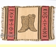 "Cotton Southwestern Placemat -13""x19"" Boots & Brands"