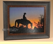 "Cowboy Art 20.5""x16.5"" -Chasin The Sun  (a26)"