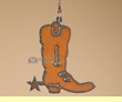 Cowboy Style Metal Art Ceiling Fan Chain Pull -Boot  (14)