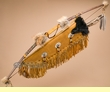 "Creek Indian Deer Skin Beaded Bow & Quiver Set 47"" (b3)"