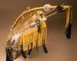 """Curtis Bitsui Leather Bow & Fox Quiver 44"""" -Navajo  (B32)"""