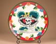 "Hand Painted Day of the Dead Plate 11.75"" -Katrina  (T21)"