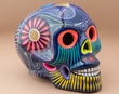 "Mexican Day Of The Dead Skull 6.5"" -Purple  (s9)"