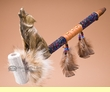"""Decorative Native Style Peace Pipe 19.5"""" -Wolf"""