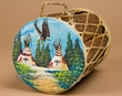 "Decorative Painted Tarahumara Drum 6""x8"" -Horse"