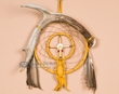 "Deer Antler Dream Catcher Medicine Wheel 6"" (dc6-15)"