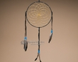 "Deer Skin Leather Dream Catcher 10"" -Black  (dc10-3)"
