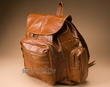 Deluxe Handcrafted Leather Back Pack -Carmel  (bp2)