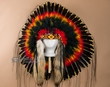 Deluxe Native American Halo Bonnet -Mystic Sunset  (h10)