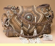 Designer Southwestern Concealment Purse -Brown  (p445)