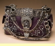 Designer Western Concealment Purse -Purple  (p445)