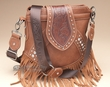 Designer Western Messenger Bag -Saddle  (p423)