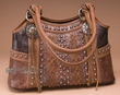 Designer Western Leather Purse -Brown  (p413)