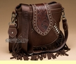 Designer Western Messenger Bag Purse -Brown  (p414)