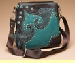 Designer Western Messenger Purse 9x9  (wp441)