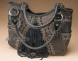 Designer Western Concealment Purse -Black  (433)