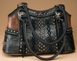 Designer Western Purse -Black  (415)