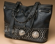 Designer Western Studded Purse -Black  (432)