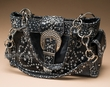 Designer Western Concealment Purse -Black  (p409)