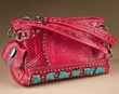 Designer Western Turquoise Purse -Red  (429)