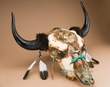 Native American Buffalo Skull 26x26 -Creek  (ps85)