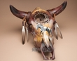 "Dreamcatcher Steer Skull 18"" -Painted Horse  (ps93)"