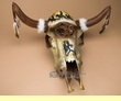 "Dreamcatcher Steer Skull 23""x20.5"" -Painted Horse  (ps93)"