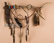 "Elk Antler Medicine Stick Dream Catcher 30"" -Tigua (6)"