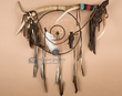 "Elk Antler Medicine Stick Dream Catcher 25"" -Tigua (6)"