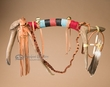 "Beaded Indian Elk Medicine Antler 18"" -Saddle"