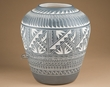 "Etched Native American Acoma Pueblo Vase 12""   (76)"
