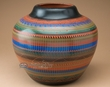 "Etched Navajo Indian Pottery Vase 10.5""  (p331)"