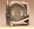 Faux Deer Antler Light Switch Cover -Double  (aa37)