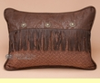 Faux Leather Envelope Pillow 16x21 -Del Rio Accent