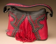 Fringed Designer Western Concealment Purse -Red  (418)