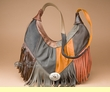 Fringed Leather Southwest Concho Purse  (422)