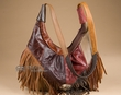 Fringed Leather Southwestern Concho Handbag  (424)