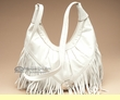 Fringed Southwest Leather Concho Purse -Cream  (426)