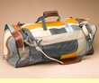 "Genuine Cowhide Duffle Bag 24"" -Multicolor  (b12)"