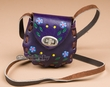 Genuine Cowhide Mini Leather Purse -Purple  (p462)