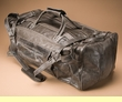 "Genuine Leather Duffle Bag 22"" -Grey  (db7)"