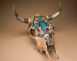 Genuine Southwestern Steer Skull -Native 17x18.5 (s11)