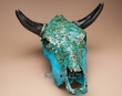 Genuine Turquoise Overlayed Steer Skull 14x16  (s75)