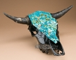 Genuine Turquoise Overlayed Steer Skull 16x19  (s75)